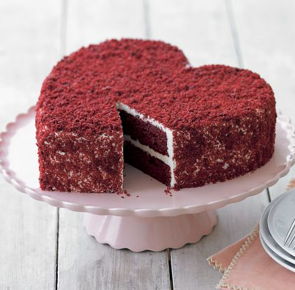 Ligth chocolate valentines cake in heart shape pics.PNG